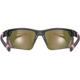 UVEX Sportstyle 221 Lunettes de sport, black pink/mirror pink